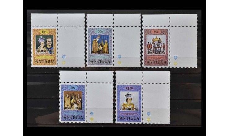 "Антигуа и Барбуда 1978 г. ""25 лет коронации Королевы Елизаветы II"" (надпечатка)"
