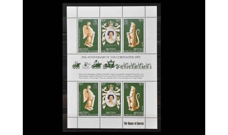 """Британские Виргинские острова 1978 г. """"25 лет коронации Королевы Елизаветы II"""""""