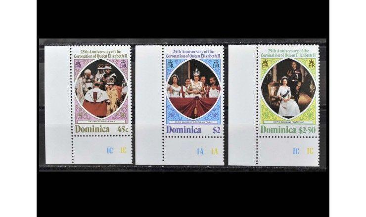 """Доминика 1978 г. """"25 лет коронации Королевы Елизаветы II"""""""