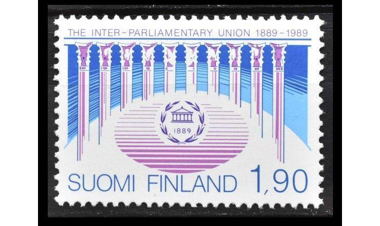 """Финляндия 1989 г. """"100 лет Межпарламентскому союзу (IPU)"""""""