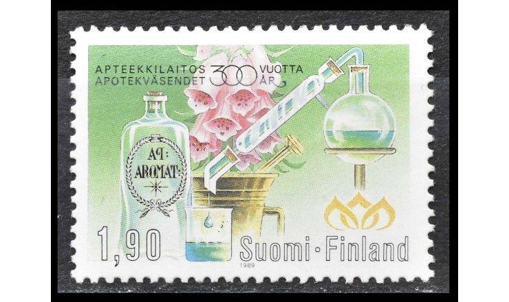 """Финляндия 1989 г. """"300 лет аптекам в Финляндии"""""""