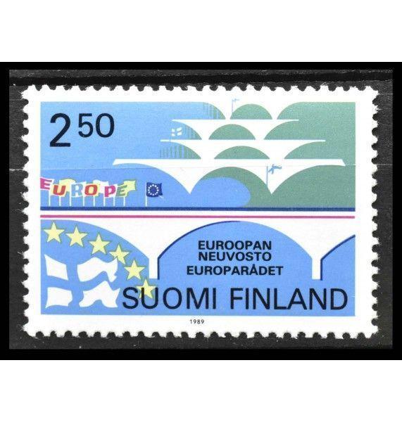 """Финляндия 1989 г. """"40 лет Совету Европы; Вступление Финляндии в Совет Европы"""""""