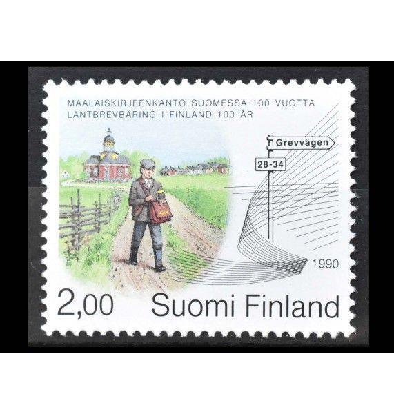 """Финляндия 1990 г. """"100 лет наземной почтовой службе"""""""