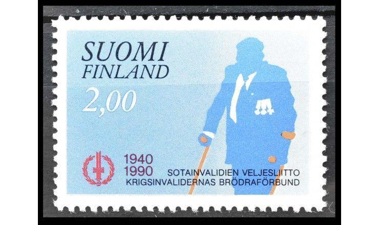"""Финляндия 1990 г. """"60 лет Братству инвалидов"""""""