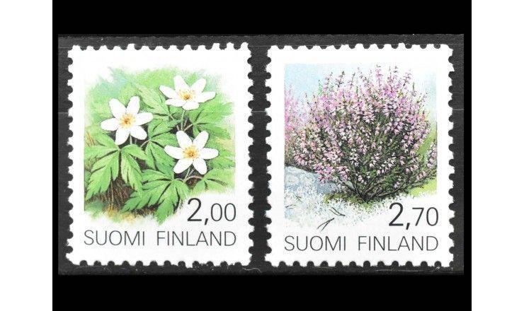 """Финляндия 1990 г. """"Стандартные марки: Растения"""""""