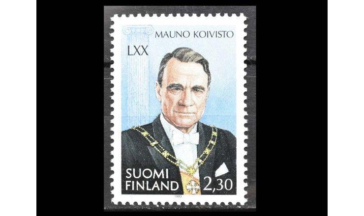 "Финляндия 1993 г. ""70 лет со дня рождения Мауно Койвисто"""