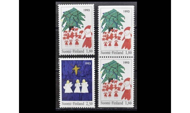"""Финляндия 1993 г. """"Рождество: Детские рисунки"""""""