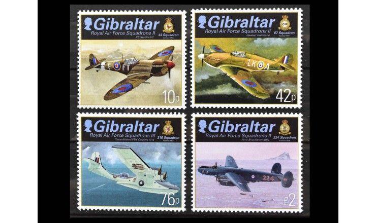 """Гибралтар 2013 г. """"Эскадрилья Королевских ВВС (RAF): Самолеты и эмблемы"""""""