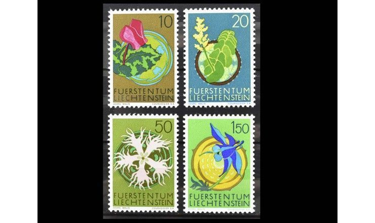 "Лихтенштейн 1971 г. ""Местная флора"""