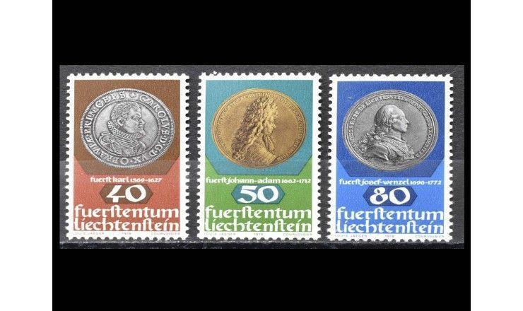 """Лихтенштейн 1978 г. """"Монеты и медали"""""""