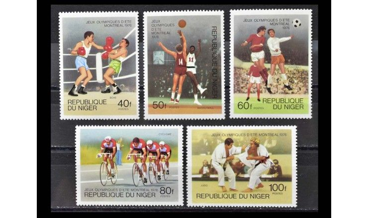 """Нигер 1976 г. """"Летние Олимпийские игры, Монреаль"""""""