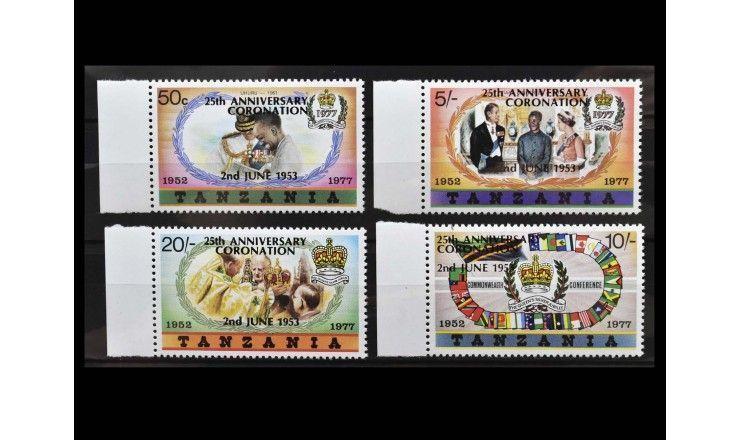 """Танзания 1978 г. """"25 лет коронации Королевы Елизаветы II"""" (надпечатка)"""