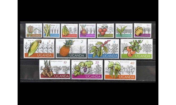 """Уганда 1975 г. """"Стандартные марки: Плоды земли"""""""