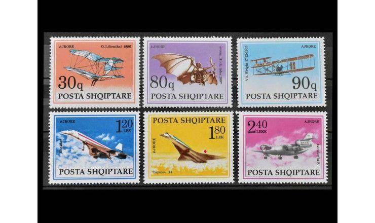 """Албания 1991 г. """"История авиации"""""""