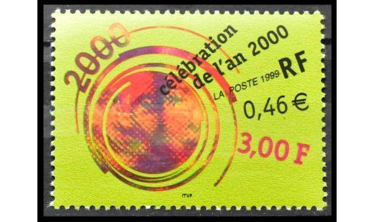 """Франция 1999 г. """"Празднование 2000 года"""""""
