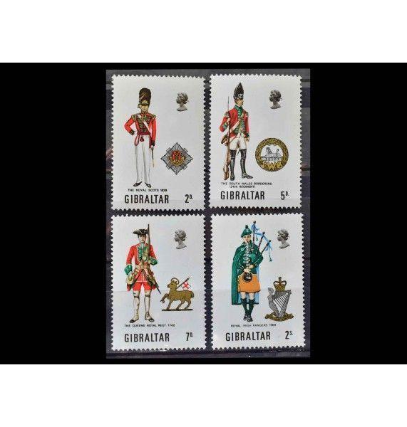 """Гибралтар 1970 г. """"Военная форма"""""""