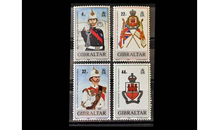 """Гибралтар 1989 г. """"50-летие Гибралтарского полка"""""""