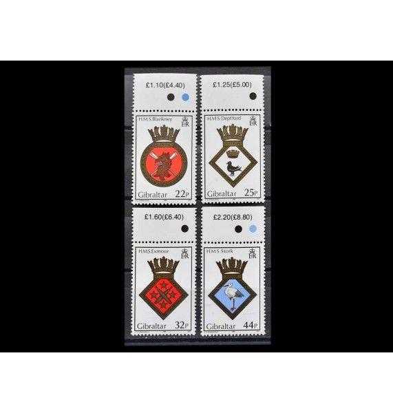 """Гибралтар 1989 г. """"Корабельные гербы"""""""