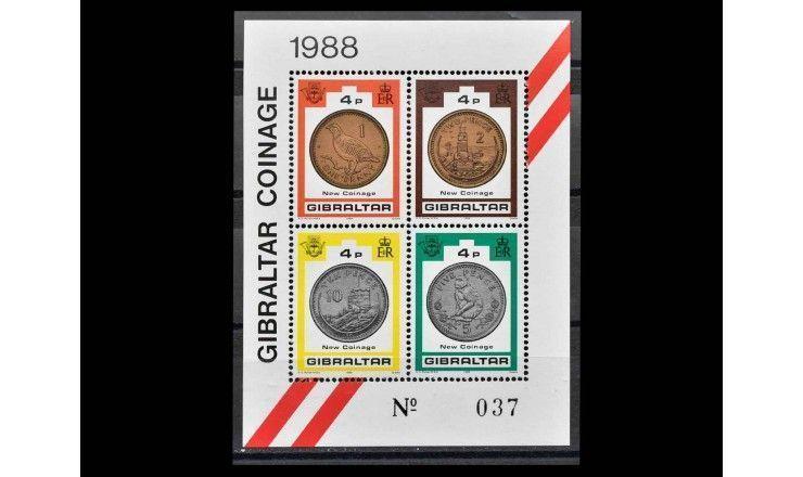 "Гибралтар 1989 г. ""Новые монеты"""