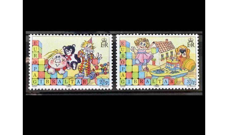"""Гибралтар 1989 г. """"Рождество: Детские игры"""""""