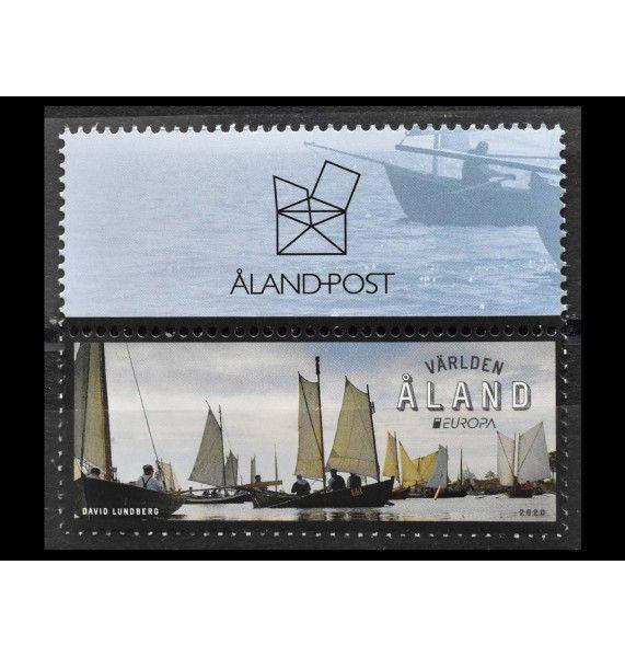 """Аландские острова 2020 г. """"Европа 2020, Старые почтовые маршруты"""""""