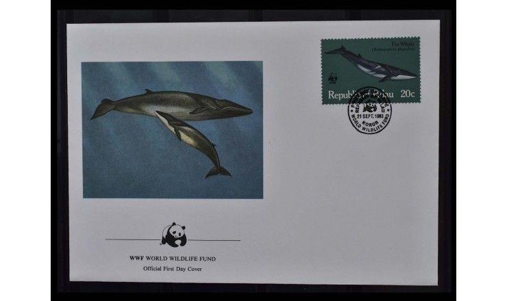 """Палау 1983 г. """"Всемирный фонд дикой природы: Киты"""" FDC"""