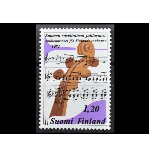 """Финляндия 1982 г. """"Финское музыкальное искусство"""""""