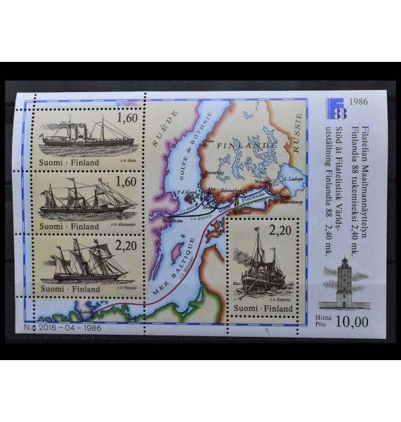 """Финляндия 1986 г. """"Международная выставка марок FINLANDIA`88, Хельсинки"""""""