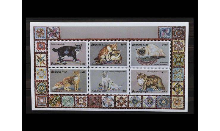"""Буркина-Фасо 1999 г. """"Породы кошек"""""""