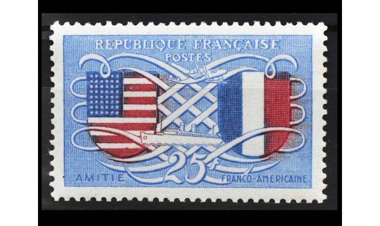"""Франция 1949 г. """"Французско-американская дружба"""""""