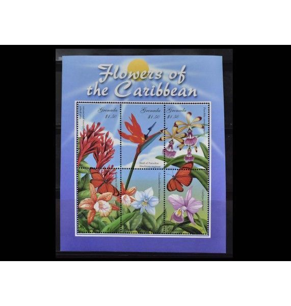 """Гренада 2000 г. """"Цветы Карибских островов"""""""