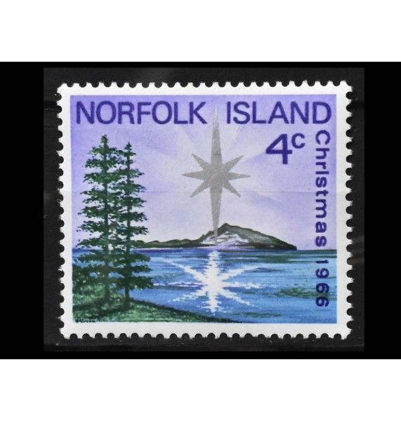 """Остров Норфолк 1966 г. """"Рождество"""""""