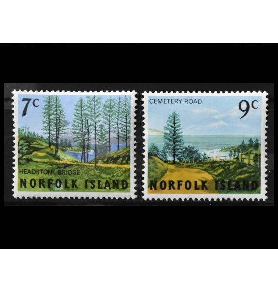 """Остров Норфолк 1966 г. """"Стандартные марки: Ландшафты"""""""