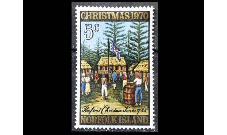 """Остров Норфолк 1970 г. """"Рождество"""""""