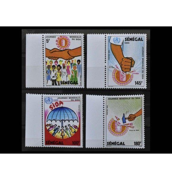 """Сенегал 1989 г. """"Всемирный день борьбы со СПИДом"""""""