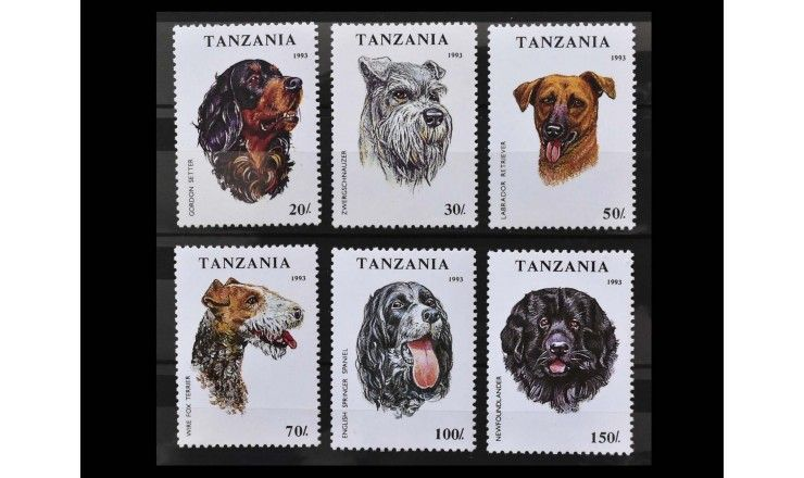 """Танзания 1993 г. """"Собаки"""""""