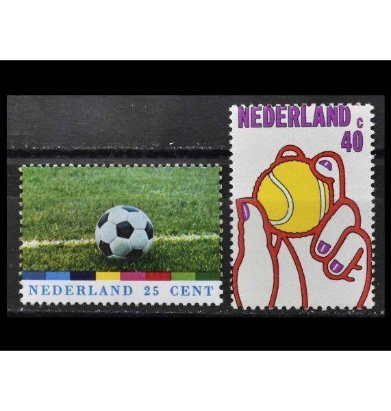 """Нидерланды 1974 г. """"Чемпионат мира по футболу; 75 лет Королевской голландской ассоциации лаун-тенниса"""""""
