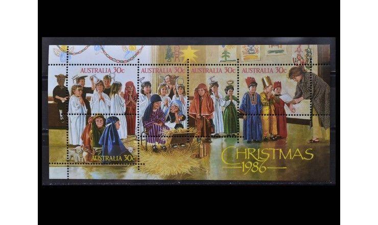 """Австралия 1986 г. """"Рождество"""""""