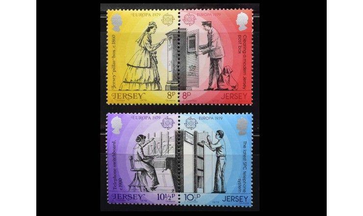 """Джерси 1979 г. """"Европа: История почты и телекоммуникаций"""""""