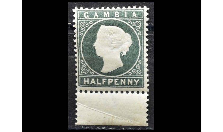 """Гамбия 1886/1887 гг. """"Стандартные марки: Королева Виктория"""""""