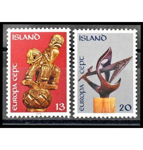 """Исландия 1974 г. """"Европа CEPT: Скульптуры"""""""