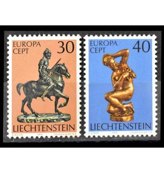 """Лихтенштейн 1974 г. """"Европа CEPT: Скульптуры"""""""
