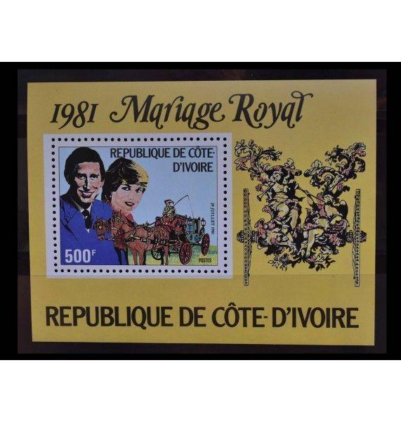 "Кот-д'Ивуар 1981 г. ""Свадьба принца Чарльза и леди Дианы Спенсер"""