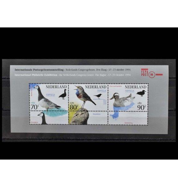 """Нидерланды 1994 г. """"Международная выставка марок FEPAPOST'94, Гаага: Птицы"""""""