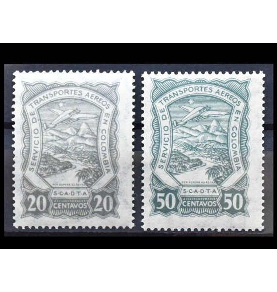 "Колумбия SCADTA 1923 г. ""Ландшафты и здания"""