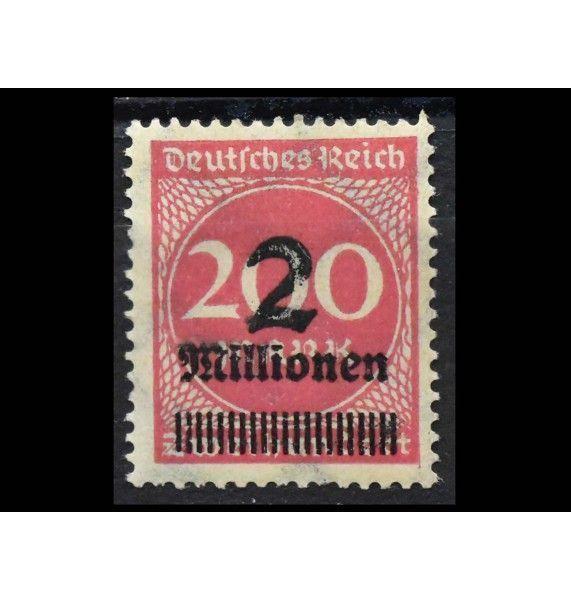 """Германия (Веймарская республика) 1923 г. """"Цифры в круге"""" (надпечатка)"""