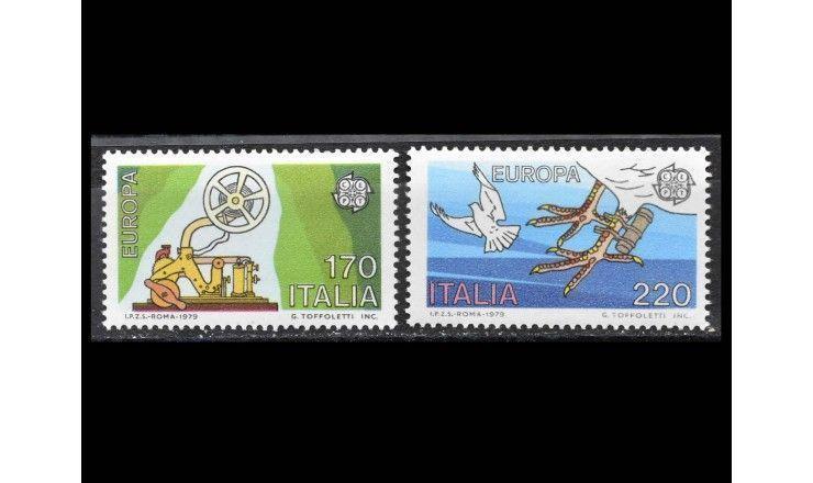 """Италия 1979 г. """"Европа: История почты и телекоммуникаций"""""""