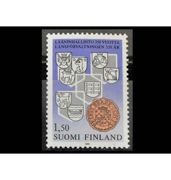 """Финляндия 1985 г. """"350 лет администрации провинций"""""""
