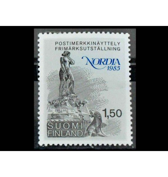 """Финляндия 1985 г. """"Выставка марок NORDIA 1985, Хельсинки"""""""