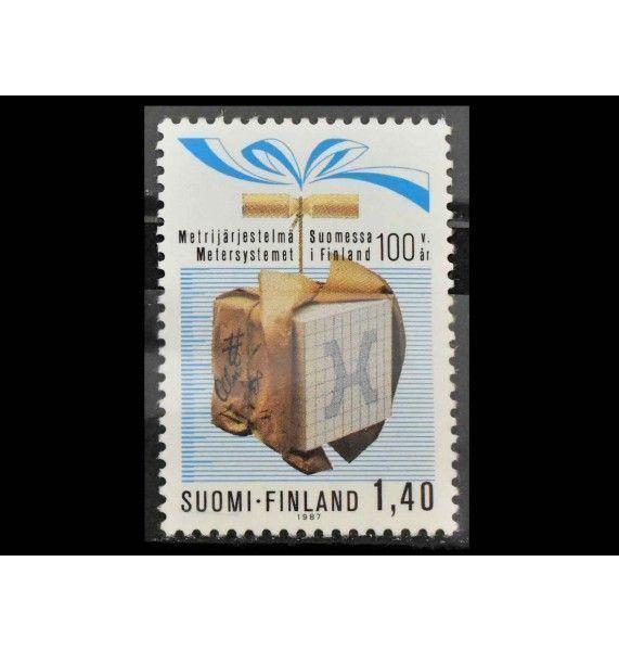 """Финляндия 1987 г. """"100 лет метрической системе Финляндии"""""""